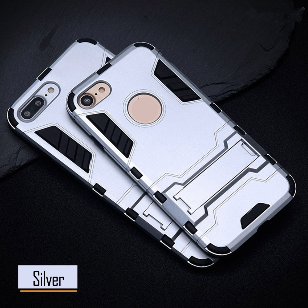 Чехол Apple Iphone 6 / 6S Hybrid Armored Case светло-серый