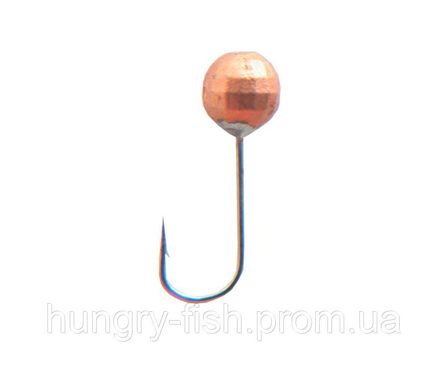 Мормышка вольфрамовая Flagman Дробинка с отверстием граненая d=4