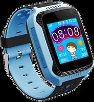 Детские смарт часы-телефон Q528 голубые с GPS, камерой, фонариком, игрой