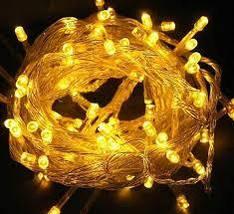 Светодиодная гирлянда желтая 100 Led