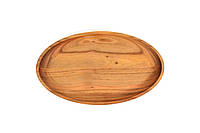 Деревянная тарелка овальная 24см, фото 1
