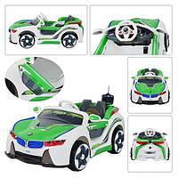 Машина HL 718 R-5  р/у, 2 мотора 6V/25W, 2 аккум 6V/7AH, 3-8лет, до 30кг, зеленый,123-68-38,5см