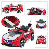 Машина HL 718 R-3  р/у,2 мотора 6V/25W,2 аккум 6V/7AH,3-8лет,до 30кг,красный, 123-68-38,5см