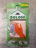 Перчатки латекс одностор роб Doloni помаранчеві S