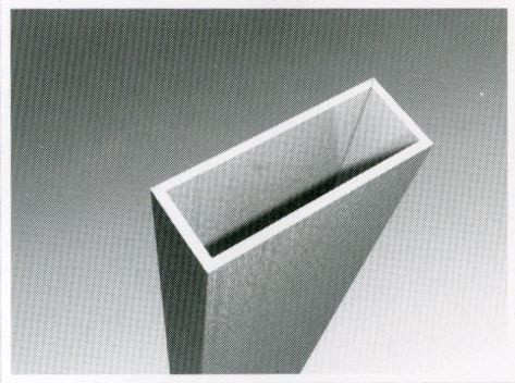Труба  алюминиевая прямоугольная 20х10х2 мм 6060 Т6