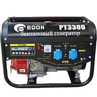 Бензогенератор PT-3300, номинальная мощность 3.0 кВт, максимальная мощность 3.3кВт, 2 розетки на 220В, есть розетка на 12В, тип 4-х тактный, система