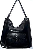 Женская черная сумка в масле на плечо 34*34