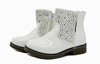 Ботинки для девочек демисезонные белые 31,36 размеры