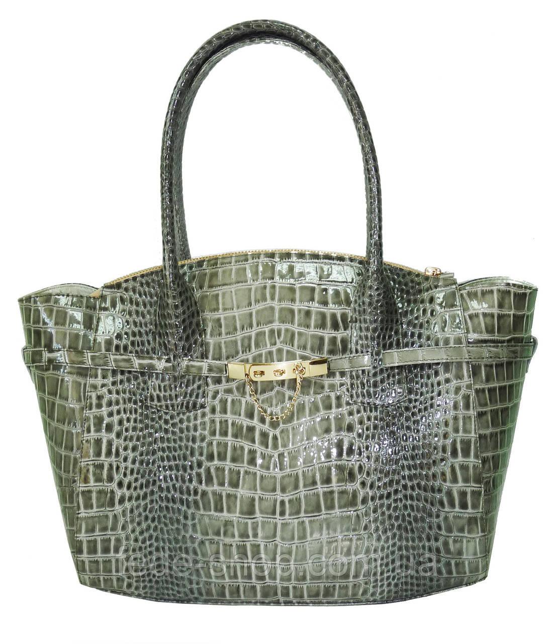 c7e25a07a2ea Женская сумка кожаная зелёная крокодил, цена 2 880 грн., купить в ...