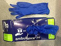 Перчатки латекс синя ambulance PF Size:S 6-7