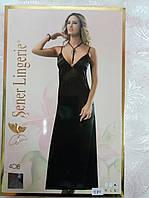 Ночная эротическая сорочка Sener черного цвета 48 р.
