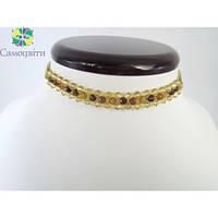 Ожерелье - чокер из коричневого агата