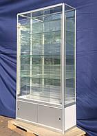 Торговая витрина стеклянная с алюминиевого профиля 200х100х40 бу, фото 1