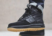 "Кроссовки Nike Lunar Force 1 Duckboot ""Black/Gum"" р.44/45/46"