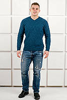 Мужской свитер цвета бирюзы
