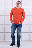 Мужской свитер кирпичного цвета