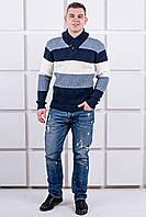 Мужской свитер в полоску