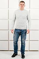 Мужской свитер с  плетеный рисунок