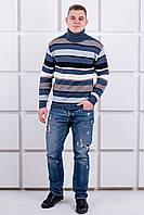 Мужской свитер повседневный с горловиной, фото 1