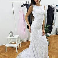 Длинное кружевное платье в пол