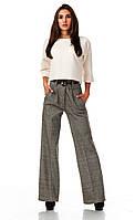 Женские классические брюки из шерсти оптом. Модель БР22_елочка бежевая., фото 1