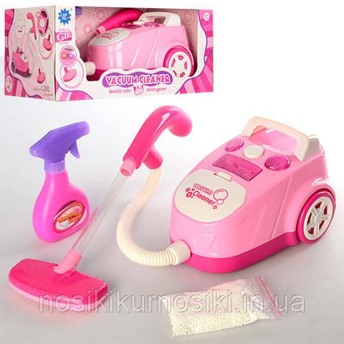 Детский игрушечный пылесос H777-11 розовый и бежевый