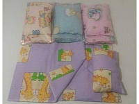 Постель для кукол (подушка, одеяло, постынь) 40*24см, ВП-014/1