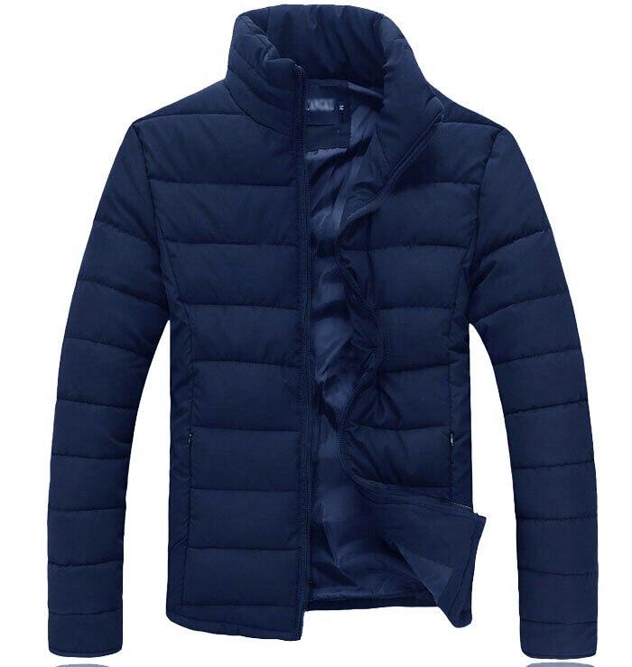 Зимняя Куртка без капюшона (слимтекс), мужская синяя