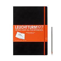 Блокнот Leuchtturm1917 WhiteLines Большой (A4) Чёрный В точку (отрывные листы) (22,5х31,5 см) (345316), фото 1