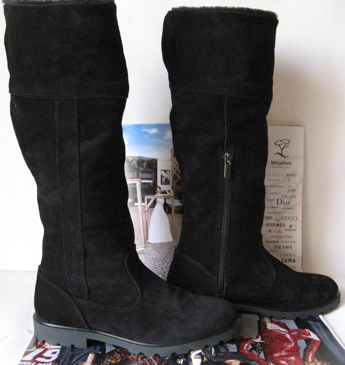 11c99156de81 Женские зимние высокие замшевые сапоги в стилеTimberland! мех ботинки  черные обувь теплая, ...