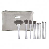Набор кистей в косметичке Smoke 'n Mirrors - 10 Piece Metalized Brush Set BH Cosmetics Оригинал