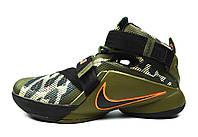Мужские баскетбольные кроссовки Nike Zoom LeBron Soldier 9 Camo Olive Orange