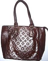 Женская каштановая сумка с принтом Луи Витон