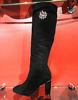 Зимние сапоги Basconi с натуральной замши чёрного цвета. Внутри цигейка
