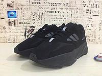 Мужские кроссовки Adidas Yeezy 700 Runner Boost черные, фото 1