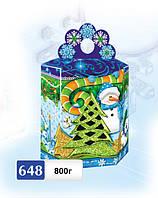 """Упаковка новогодняя """"Снеговик"""" на 500 грамм"""