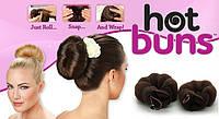 Популярные заколки для волос Hot Buns 2шт. в упаковке, 1001038, заколки для волос Hot Buns, заколки для волос, резинки +для волос, Hot Buns, Валики