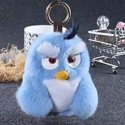 Брелок Angry Birds с натуральным мехом кролика