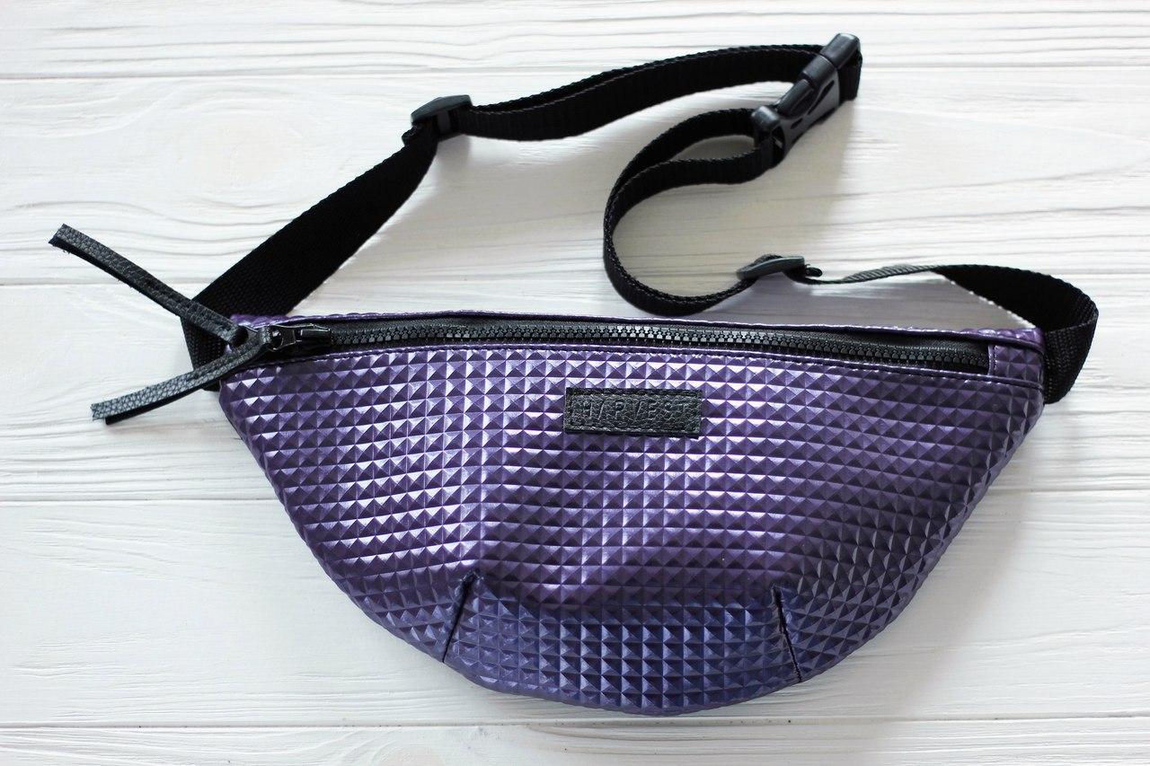 253d9b2a2d49 Поясная сумка бананка эко-кожа фиолетовая RMB VIOLET HARVEST (бананки, сумка  на пояс