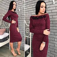 Платье с мулине  мод. Ч210
