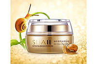 Оригинал! Азиатский питательный крем для лица от морщин с секретом улитки BioAqua Snail Repair & Brithening