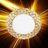 Светодиодная панель Feron AL780 5W золотая