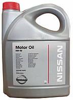 Моторное масло Nissan Motor Oil SAE 5W-40, 5 литров