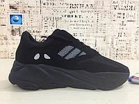 Женские кроссовки Adidas Yeezy 700 Runner Boost черные, фото 1