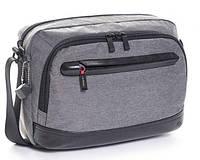 f37686b336c9 Стильная мужская сумка на плечо Hedgren Excellence, ткань Twill NT, отделка  - кожа,
