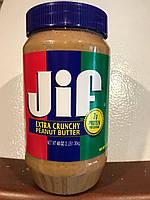 Арахисовая паста JIF с большим количеством кусочков орешков, 1,36 кг