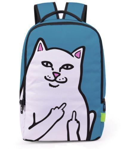 Рюкзак с принтом наглым кот.