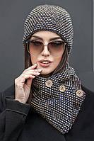 Шапка+хомут №194, (3цв), шапки оптом, в розницу, шапки от производителя, дропшиппинг