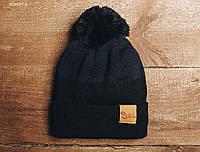 Зимняя шапка (с помпоном) Staff - Art. KS0067-2 (чёрный | тёмно-серый)