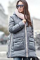 Куртка зимняя Санта серый, женская зимняя куртка, пуховик, от производителя, дропшиппинг